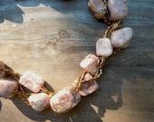 Autumn Jasper Nuggets, and Shiny Metallic Miyuki Square Glass Beads, Large, Chunky & Fun
