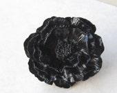 Gothic Poppy Filigree Ring In Black By Naz Creations