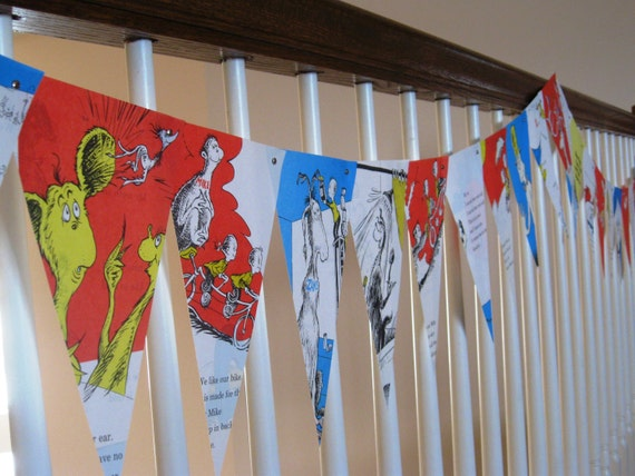 12 foot Party Banner Inspired by One Fish Two Fish