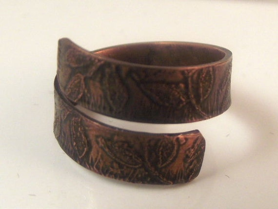 Copper Ring/ Adjustable Ring/  Unisex Ring/ Handcrafted Ring/ Artisan/ Designer Jewelry /R- 387