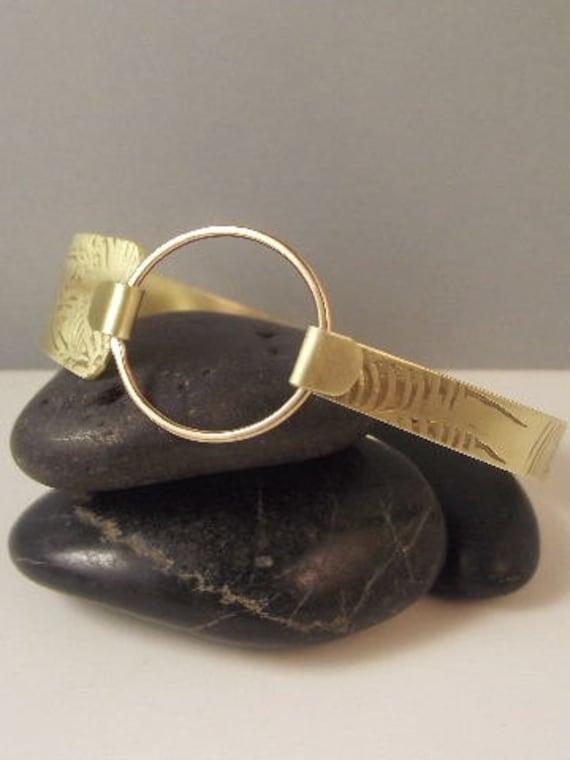 Brass Bangle / Brass Bracelet /Brass Jewelry , Artisan, Designer Jewelry, B-464