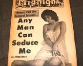 1960s 1966 Three copies of Midnight Magazine a Pulp Swinger Night Life Tabloid Newspaper Dope Prostitutes Jazz Musicians Sex