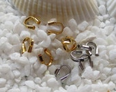 Brass Wire Guardian - 4mm x 5mm -  Choose Gold or Platinum Plated - 100 pcs