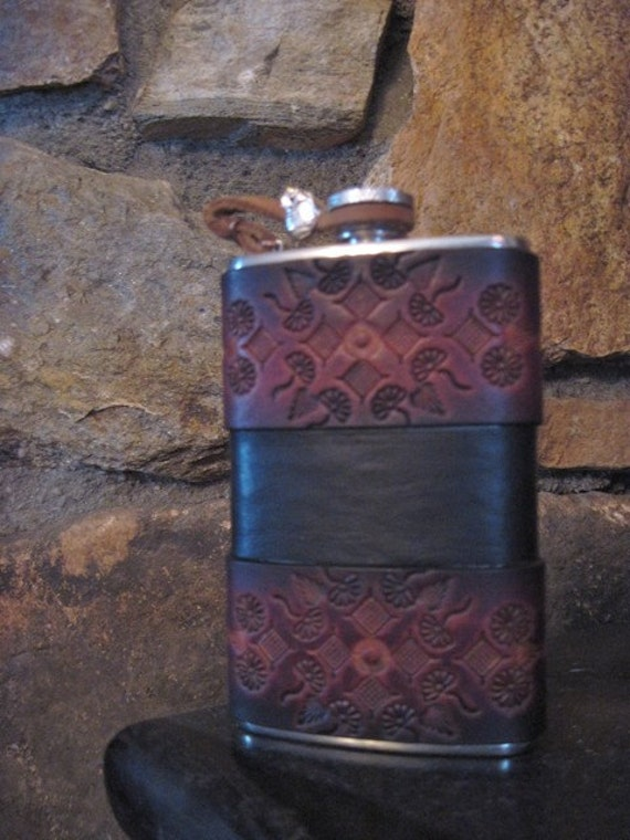 The Stay Classy Leather Bound Flask- 5 oz