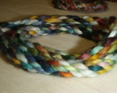 8-Ply multicoloured wool bracelets