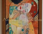 The Kiss Remembered-Custom Framed Original Oil Painting