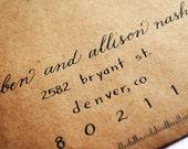 Wedding Calligraphy - Envelopes
