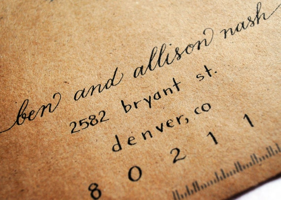 Items Similar To Wedding Calligraphy Envelopes On Etsy