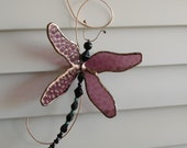Dragonfly Sun Catcher Dimensional  Sculpture Purple FREE SHIPPING