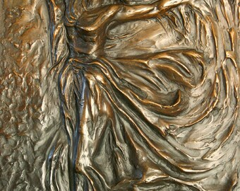 Allegory - Bronze relief with brown patina - Limited edition