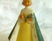 SALE Infant Jesus of Prague Chalk Ware French Statue 1945 Anvers Bruxelles Rare and Precious