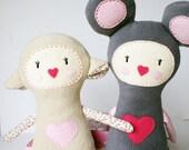 plush Lamb Girl - soft art doll, children toy