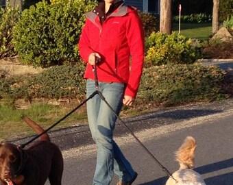 """Nautical Dog Leashes - the Fair Lead """"Classic"""" - Double Doggy Coupler (Navy)"""