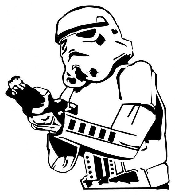 Star Wars Stormtrooper Decal Vinyl Sticker works great for Laptop or IPAD (White)