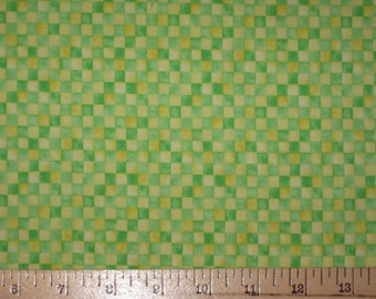 Xanadu by Max and Nobie for Moda green yellow checks squares fabric 1 yard
