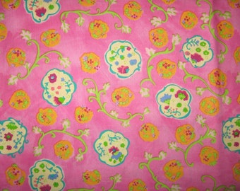 Sasparilla by Kimberly Hodges for Free Spirit Hot Pink floral 1 yard
