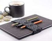 Journal Bandolier / Dark Ornament / replace your pencil case