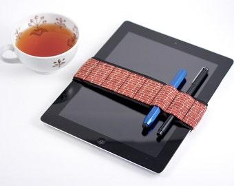 Medium Bandolier (IPAD size) // brickhouse // (a better pencil case, journal pen holder, book strap, pen loop, pencil roll, pen bandolier)