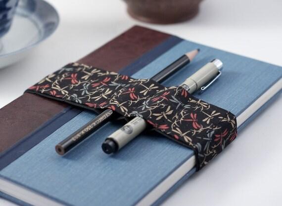 Pencil case upgrade / Journal Bandolier / Dragonfly