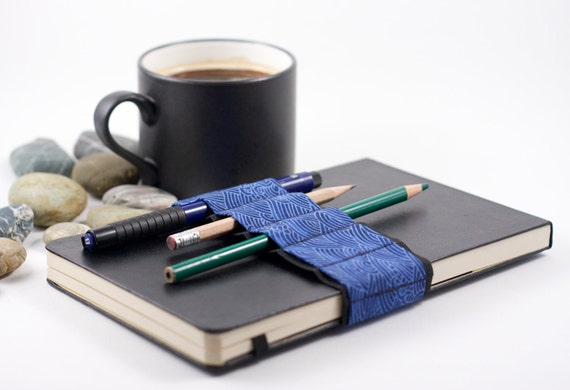 Journal Bandolier // replace that pencil case  // blue wave