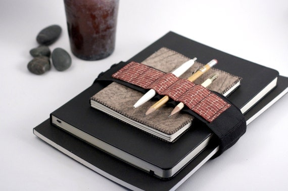 Adjustable Velcro Bandolier // brickhouse // (a better pencil case, journal pen holder, book strap, pen loop, pencil roll, pen bandolier)