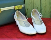 White Vintage Mary Jane Heels size 8 SALE