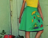 Green Wrap Around Skirt