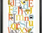 Transportation ABC Nursery Art Print
