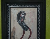 "Framed Original ""Day of the Dead"" Painting"