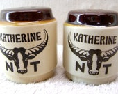 Retro Salt and Pepper Shakers - Katherine, Northern Territory, Australia - 50% Off Sale