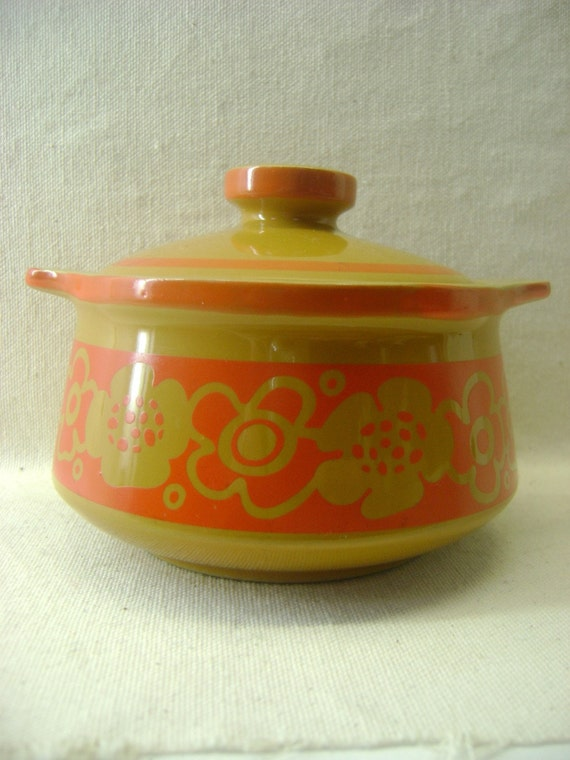 """Imperial """"Cortina"""" Orange and Brown Oven Dish"""