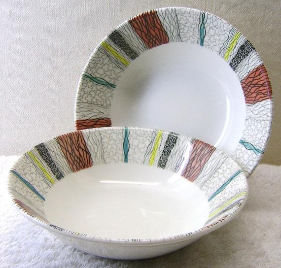 Swinnertons Raffia Pattern Ceramic Bowls x 2 - 50% Off Sale