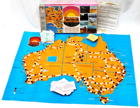 Discover Australia Board Game - Australian Exploring Game - Travelling Game by John Sands