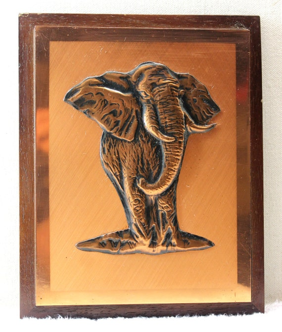 Dennis Thomson Copper Wall Hanging African Elephant