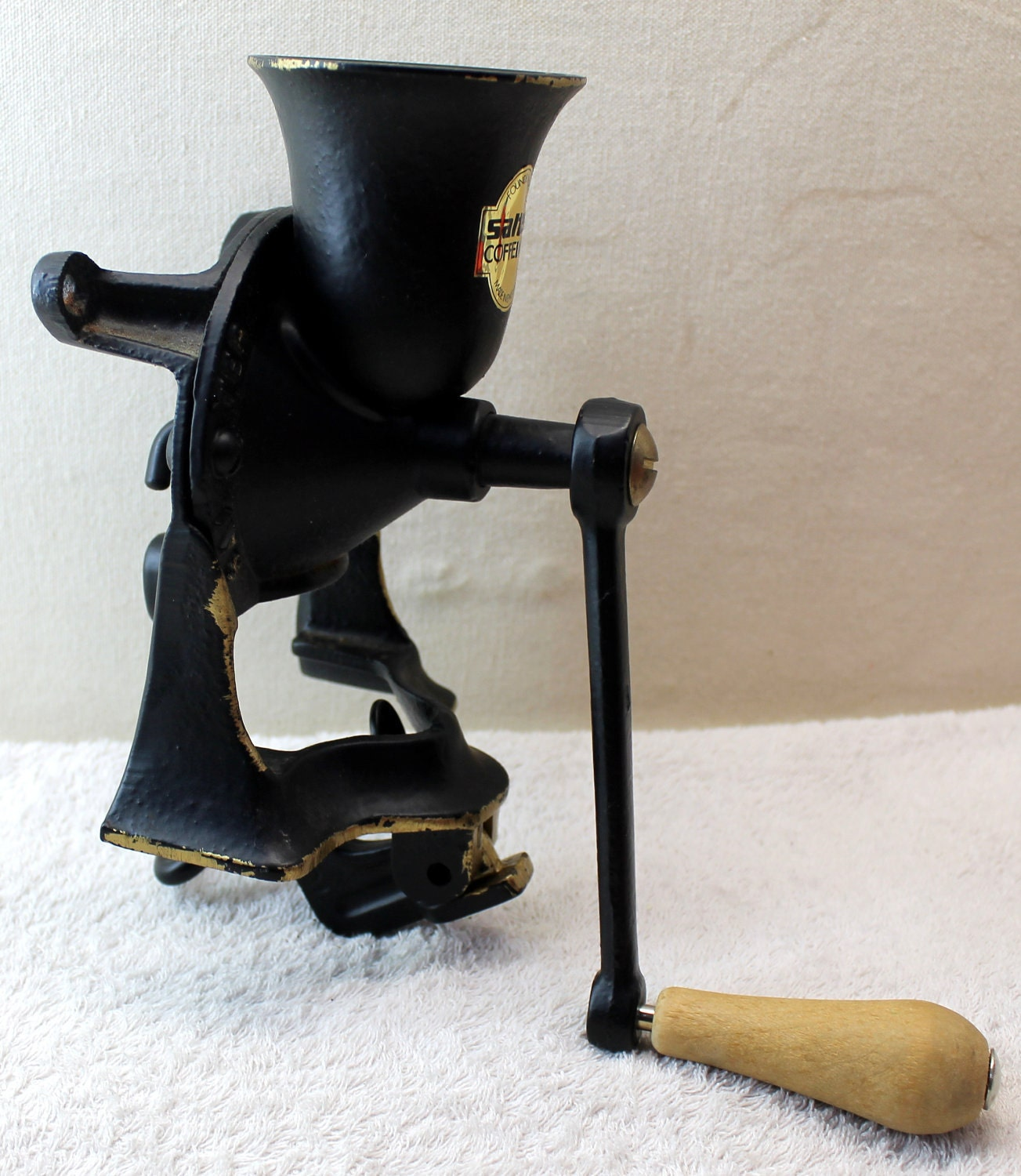 Vintage Salter Coffee Mill No 1 Cast Iron Coffee Grinder