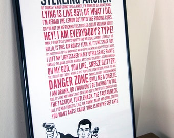 11x17 Archer Quotes Poster