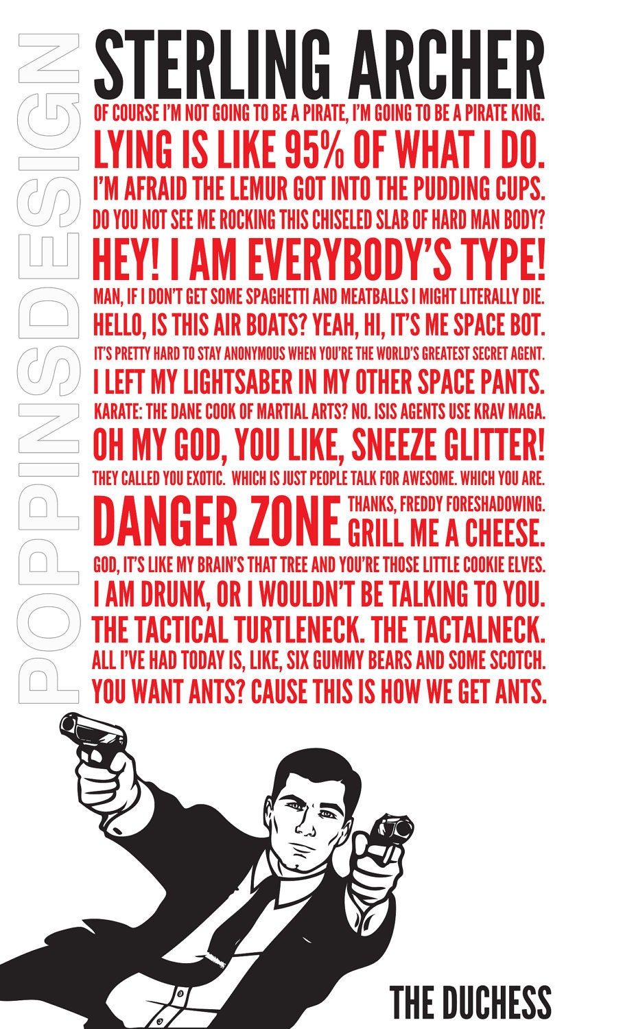 18X24 Archer Quotes Poster