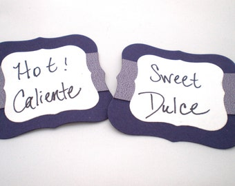 Custom-Made Embossed Favor Tags or Candy Buffet Labels  Set of 10