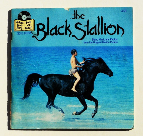 Black Stallion Book Cover : The black stallion read along book and record by