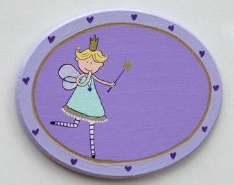 Handpainted Oval Door Sign For Children's Room
