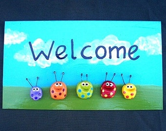 WELCOME Door Sign For Home
