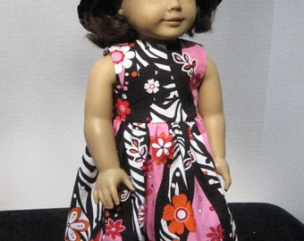 """18"""" Doll Clothes Sundress and matching hat."""