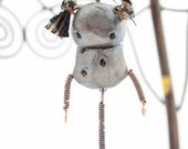 Melancholy Margaret polymer clay robot necklace
