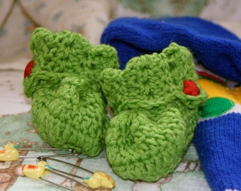 3-in-1 Pattern PDF for Crochet Baby Bootie Set, Moccasin and Cuff Style