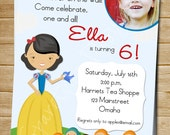 Printable Snow White Inspired Invitation - Customizable - Entire Birthday Kit Available