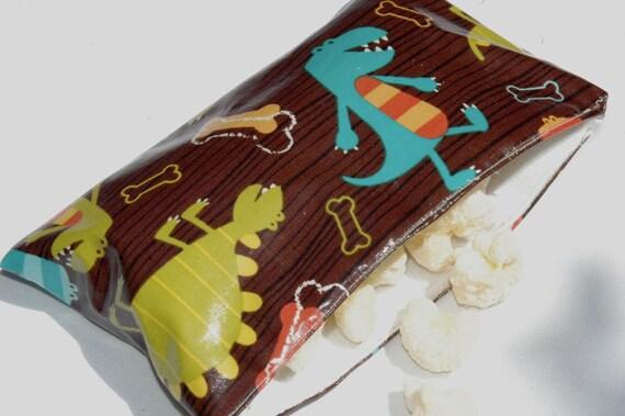 SNACKABY dishwasher-safe reusable snack bag Dino