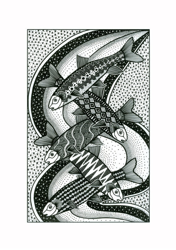 Fish Pattern Drawing Fish Drawing in Black And