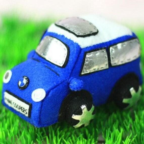 MINI Cooper Car Toy Pattern from ellediy.com--PDF Pattern