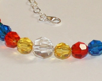 Bold and Beautiful Swarovski Crystal Choker with sterling silver chain