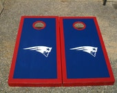 Custom Football Gift - New England - Cornhole Corn Hole Baggo Board Game Set - Fathers Day Present
